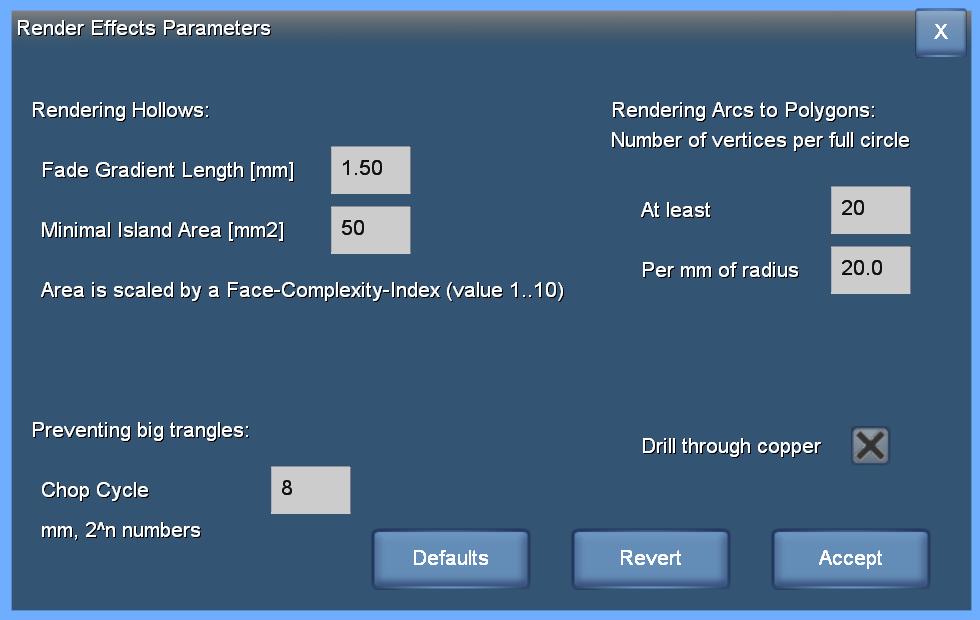 Render Effect Parameters box