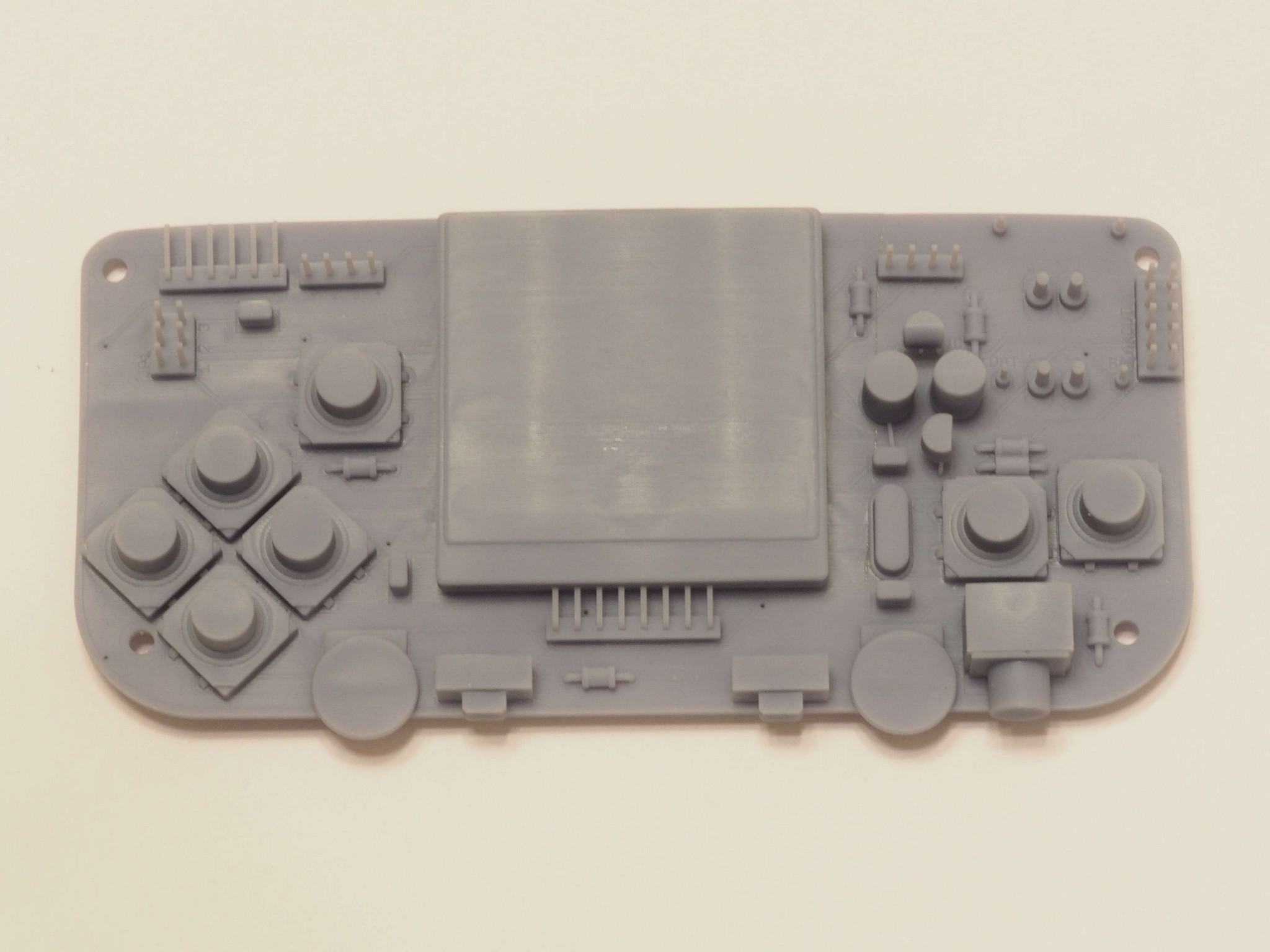 SLA 3D Print of Gamebuino STEP Model. Top View